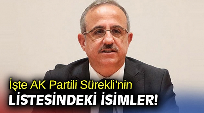 İşte AK Partili Sürekli'nin listesindeki isimler!