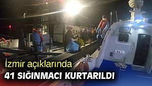 İzmir açıklarında 41 sığınmacı kurtarıldı
