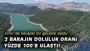 İzmir'de barajlar bir gecede doldu: 2 barajın doluluk oranı yüzde 100'e ulaştı!