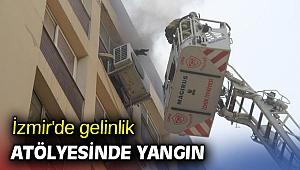 İzmir'de gelinlik atölyesinde yangın