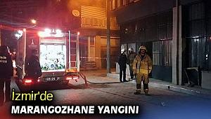 İzmir'de marangozhane yangını