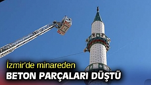 İzmir'de minareden beton parçaları düştü