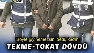 İzmir'de otobüste çarşaflı kadını darbeden kişi tutuklandı