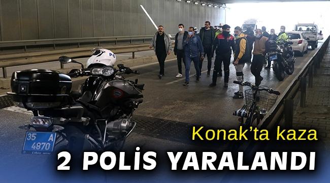 İzmir'de pikapla çarpışan motosikletteki 2 Yunus polisi yaralandı