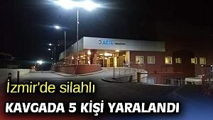 İzmir'de silahlı kavgada 5 kişi yaralandı