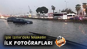 İzmir'de yağmur felakete dönüştü... Mecbur kalmadıkça dışarı çıkmayın!