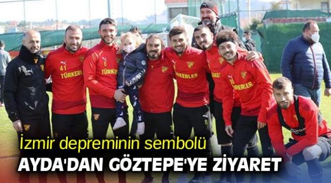 İzmir depreminin sembolü Ayda'dan Göztepe'ye ziyaret