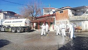 Karantinadaki kırsal mahalleye detaylı temizlik
