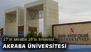 Katip Çelebi Üniversitesi kadrosunda 27 kişi akraba çıktı
