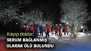 Kayıp doktor, serum bağlanmış olarak ölü bulundu