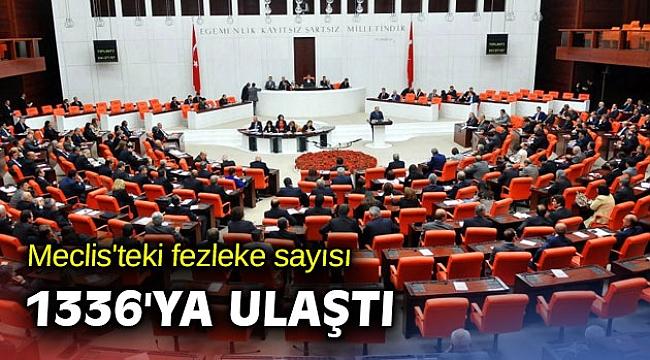 Meclis'teki fezleke sayısı 1336 oldu
