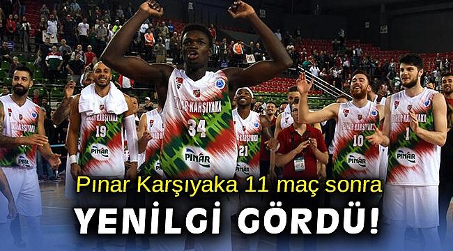 Pınar Karşıyaka'nın ligdeki 11 maçlık galibiyet serisi sona erdi