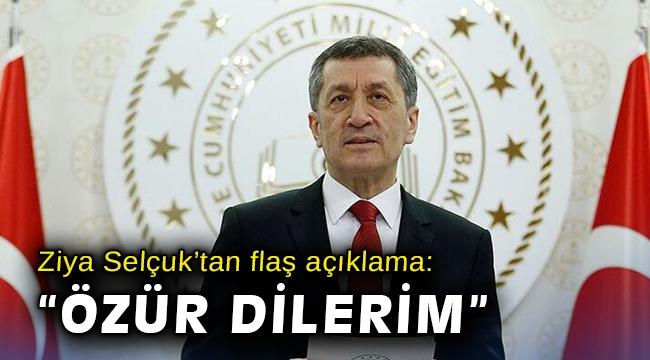Ziya Selçuk'tan flaş açıklama: