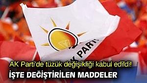 AK Parti'de tüzük değişikliği kabul edildi! İşte değiştirilen maddeler