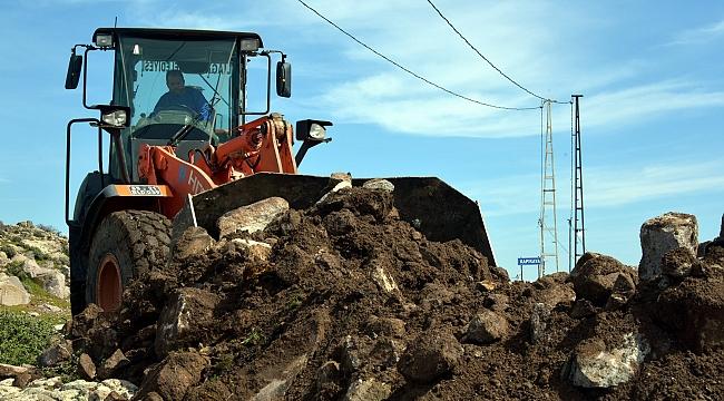 Aliağa Belediyesi Çalışmalarını Kapukaya Mahallesi'nde Sürdürüyor