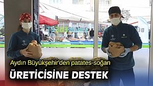 Aydın Büyükşehir'den patates-soğan üreticisine destek