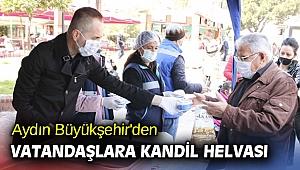 Aydın Büyükşehir'den vatandaşlara kandil helvası