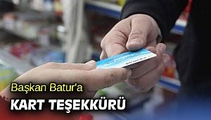 Başkan Batur'a kart teşekkürü