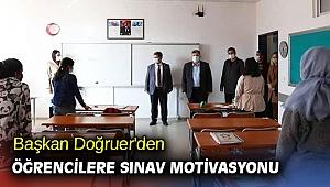 Başkan Doğruer'den öğrencilere motivasyon