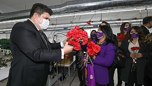 Başkan Kılıç'tan Buca'nın emekçi kadınlarına 8 Mart ziyareti