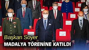 Başkan Tunç Soyer madalya törenine katıldı