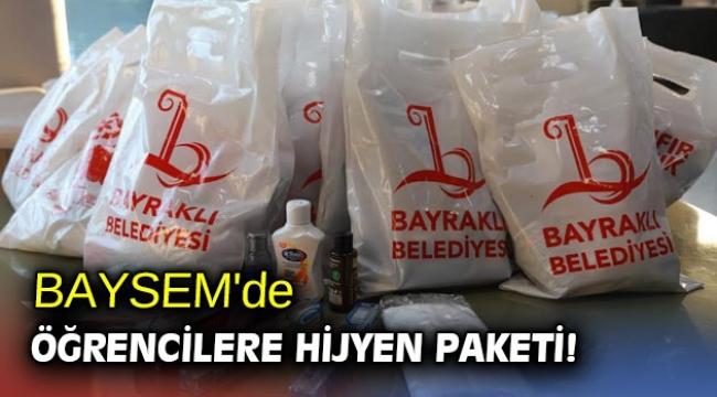 BAYSEM'de öğrencilere hijyen paketi!