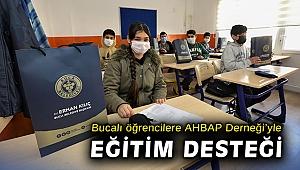 Bucalı öğrencilere AHBAP Derneği'yle eğitim desteği