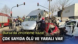 Bursa'da zincirleme kaza! Çok sayıda ölü ve yaralı var