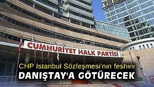 CHP İstanbul Sözleşmesi'nin feshini Danıştay'a götürecek