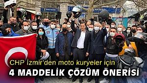 CHP İzmir'den moto kuryeler için 4 maddelik çözüm önerisi