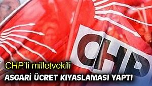 CHP'li milletvekili asgari ücret kıyaslaması yaptı