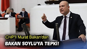 CHP'li Murat Bakan'dan Bakan Soylu'ya tepki!