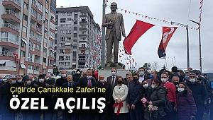 Çiğli'de Çanakkale Zaferi'ne özel açılış
