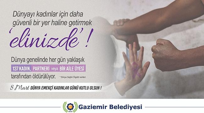 Gaziemir'de kadına şiddete dikkat çekildi!