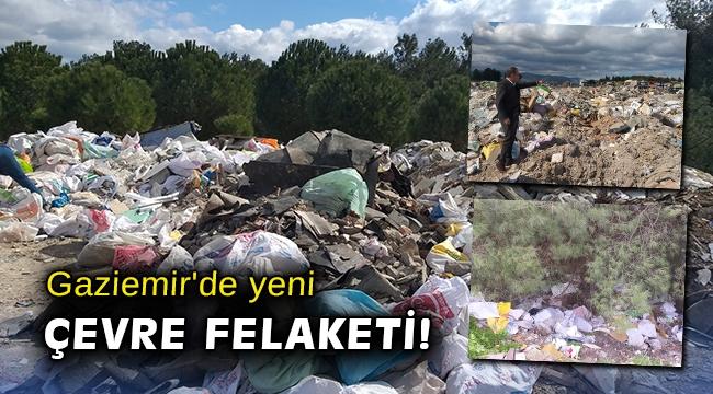 Gaziemir'in fidanlığı çöp alanı oldu!