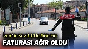İzmir'de Kovid-19 tedbirlerinin faturası ağır oldu