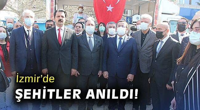 İzmir'de şehitler anıldı!