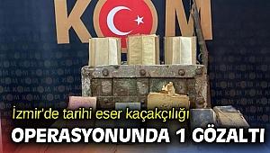 İzmir'de tarihi eser kaçakçılığı operasyonunda 1 gözaltı