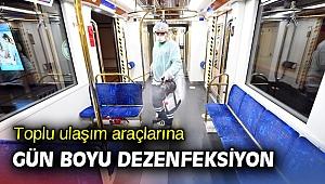 İzmir'de  toplu ulaşım araçlarına gün boyu dezenfeksiyon