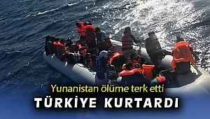 İzmir'de Türk kara sularına geri itilen 12 sığınmacı kurtarıldı