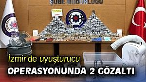 İzmir'de uyuşturucu operasyonunda 2 gözaltı