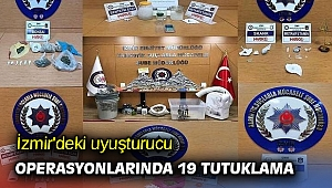 İzmir'deki uyuşturucu operasyonlarında 19 tutuklama