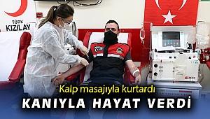 İzmirli genç, kalp masajıyla hayata döndürdüğü kadın için kan bağışı yaptı