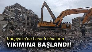 Karşıyaka'da hasarlı evlerin binaların başlandı!
