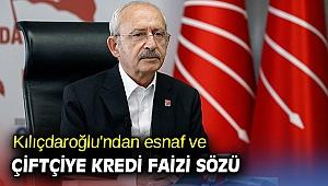Kılıçdaroğlu'ndan esnaf ve çiftçiye kredi faizi sözü