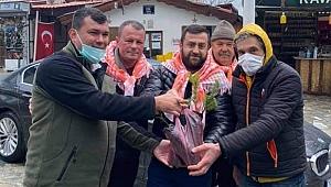 Orman İşletme Şefliğine ait fidanları Girbiyanoğlu dağıttı