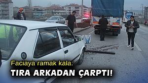 Otomobilin tıra arkadan çarpması sonucu 5 kişi yaralandı!