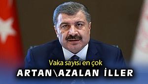 Sağlık Bakanı Koca, vaka görünme oranı en çok artan ve azalan illeri açıkladı