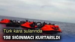 Türk kara sularında 158 sığınmacı kurtarıldı