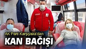 AK Parti Karşıyaka'dan kan bağışı!